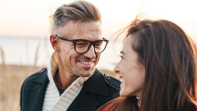 man and woman looking at each other | Dentist in booragoon